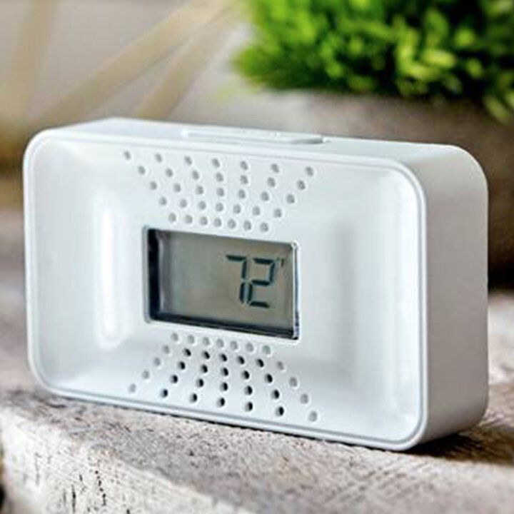 Carbon monoxide detector with 10 year battery